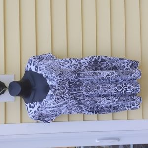 UNITY WORLD WEAR Black and White Sparkle Top L